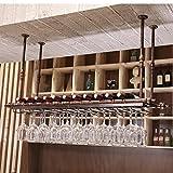 SKC Lighting-Estantera de vino Barra de hierro colgante, estante para vino,...