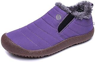 Bottes de Neige Homme Femme Chaussures Hiver Chaudement Chaudes Fourrure Randonnee Baskets Bottines