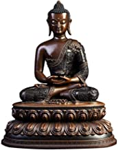 Amitabha Buddha Statue, Religious Buddhism Statue, Pure Copper Figurine, Luck Figurine Buddha Sculpture, Study Desktop Col...