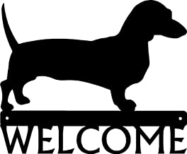 The Metal Peddler Dachshund Dog Welcome Sign - 12 inch Wide