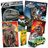 Jurassic World Fallen Kingdom Coloring Book Toy Set by ColorBoxCrate - 7 PACK - Includes TRex Raptor Activity Books, Mystery Jurassic Park Matchbox Car, Crayons, Dinosaur Candy for Children Ages 4-10