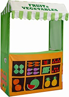 ASWEETS Farmers Market Play Tent Stand, Green/Orange