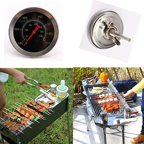 Calli Edelstahl Camping Barbecue Grill Barbecue Smoker Pit Camp Cooking Thermometer