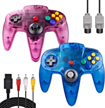 $25 » ZeroStory Classic N64 Controller, Wired N64 Controller Joystick with 5.9 Ft N64 AV Cable for N64 Video Game Console (Sapph...