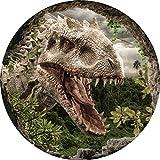 Essbarer Tortenaufleger Dinosaurier // Kuchendeoration Dinotorte Höhle // 20cm Durchmesser (Oblatenpapier)