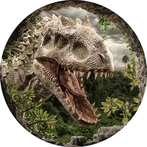 Essbarer Tortenaufleger Dinosaurier // Kuchendekoration Dinotorte Höhle // 20cm Durchmesser (Oblatenpapier)