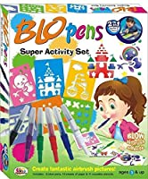 House of Gifts Blow Pen Super Activity Set (2 in 1 Marker & Airbrush)