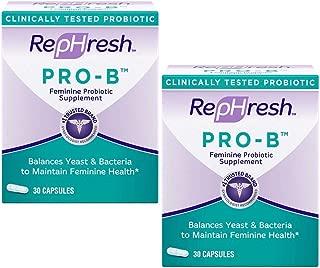Pro-B Probiotic Feminine Supplement Capsules, 30 Count (2 Pack)