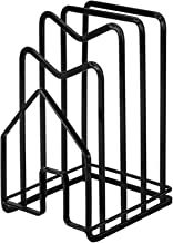 Ganghuo Snijplank Houder met compartiment Ijzer Stijl Keuken Aanrecht Organizer voor Pot Pan Deksel Snijplank
