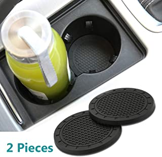 Yuanxi Electronics 2 Pcs 2.75 inch Car Interior Accessories Anti Slip Cup Mat for for All Brands of Cars
