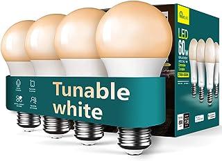 لامپ هوشمند لامپ هوشمند Life Life لامپ هوشمند ، قابل تنظیم با نور سفید با لامپ LED و دستیار Google ، WiFi 2.4GHz ، 800LM ، E26 A19 9W (معادل 60W) ، بدون هاب ، خانه هوشمند
