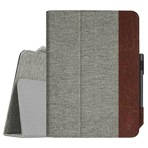 Fintie Folio Funda para Samsung Galaxy Tab S3 9.7 - Slim Fit Carcasa con Función de Soporte y Auto- Reposo/Activación para Modelo de SM-T820/T825, Tela Gris