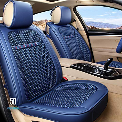 RR-YRC Breathable and Wear-Resistant Car Seat Cover Set, Summer Universal Cushion, Suitable for Most Cars, Trucks, SUV (Multiple Colors),Blue