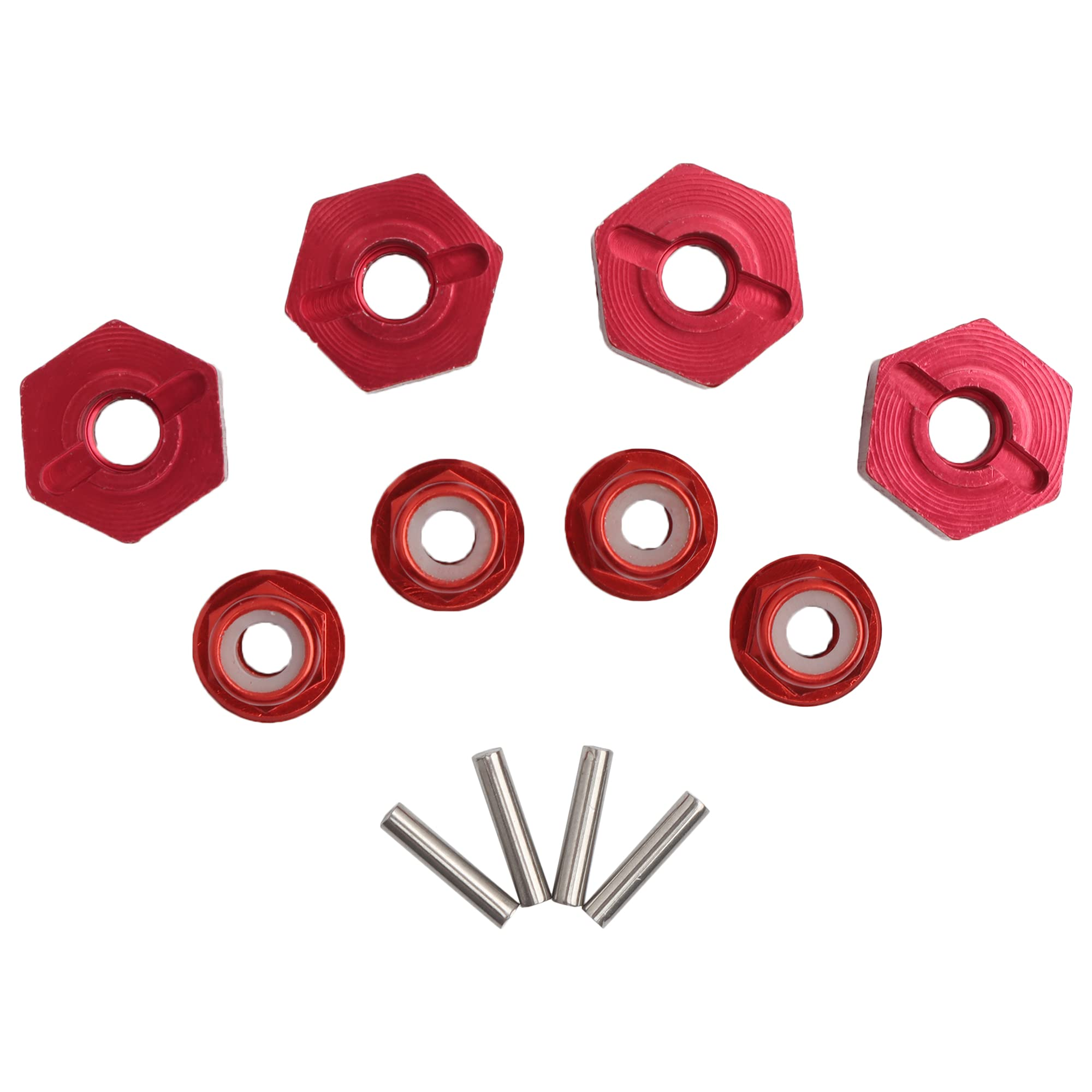 GDOOL 12mm Wheel Hex Hubs Drive Adapter 5mm Thick & Flange r