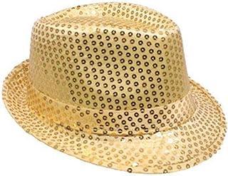 إكسسوارات أزياء تنكرية للجنسين من موزلي قبعة فيدورا من الترتر، رائعة ومضيئة، وديسكو ريترو، غير تقليدية، ومتألقة، وفاخرة، و...