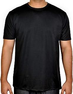 Black Cotton Round Neck T-Shirt For Men