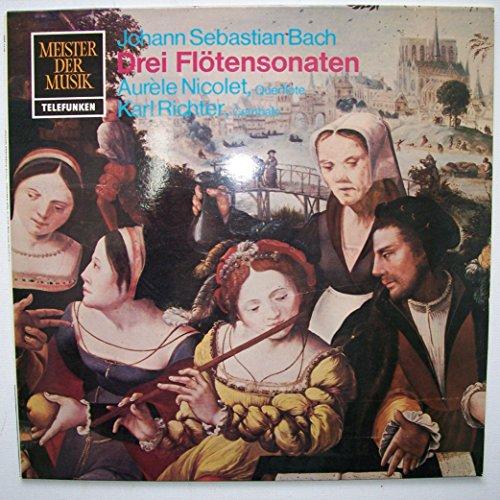 Bach: Drei Flötensonaten. BWV 1030, 1031, 1020. Aurèle Nicolet, Querflöte. Karl Richter, Cembalo. Das alte Werk. LP Vinyl, Telefunken Royal Sound SMT 1148