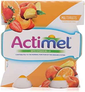 actimel Multi Fruit Dairy - 4 x 93 ml