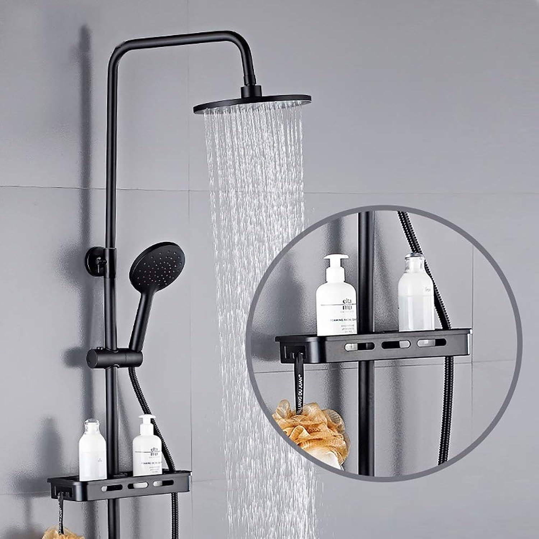UKE Thermostatisches Duschsystem, Multifunktionsdusche, Wandmontage, kombinierter Duschkopf mit Regendusche und Handbrause