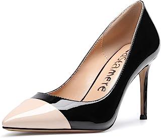 CASTAMERE Escarpins Femme Bout Fermé Aiguille Talon 8.5CM Heels