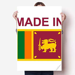 DIYthinker Made in Sri Lanka Country Love Sticker Poster Decal 31x22