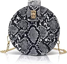 Fashion Crossbody Bag Snakeskin Shoulder Bag with Chain Strap for Women