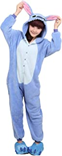 Stitch Onesie Pajamas with Matching Gloves and Slippers Animal Pjs Halloween Costumes Party Wear