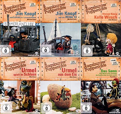 Augsburger Puppenkiste: Jim Knopf - Urmel - Kalle Wirsch + Das Sams (7-Filme-Set) [6-DVD]