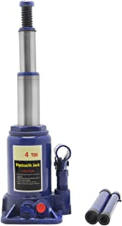 BAOSHISHAN 4 Ton Double Ram Bottle Jack 6 19/64in.-15 23/64in. Lift Range Portable Hydraulic Jack with Carrying Case