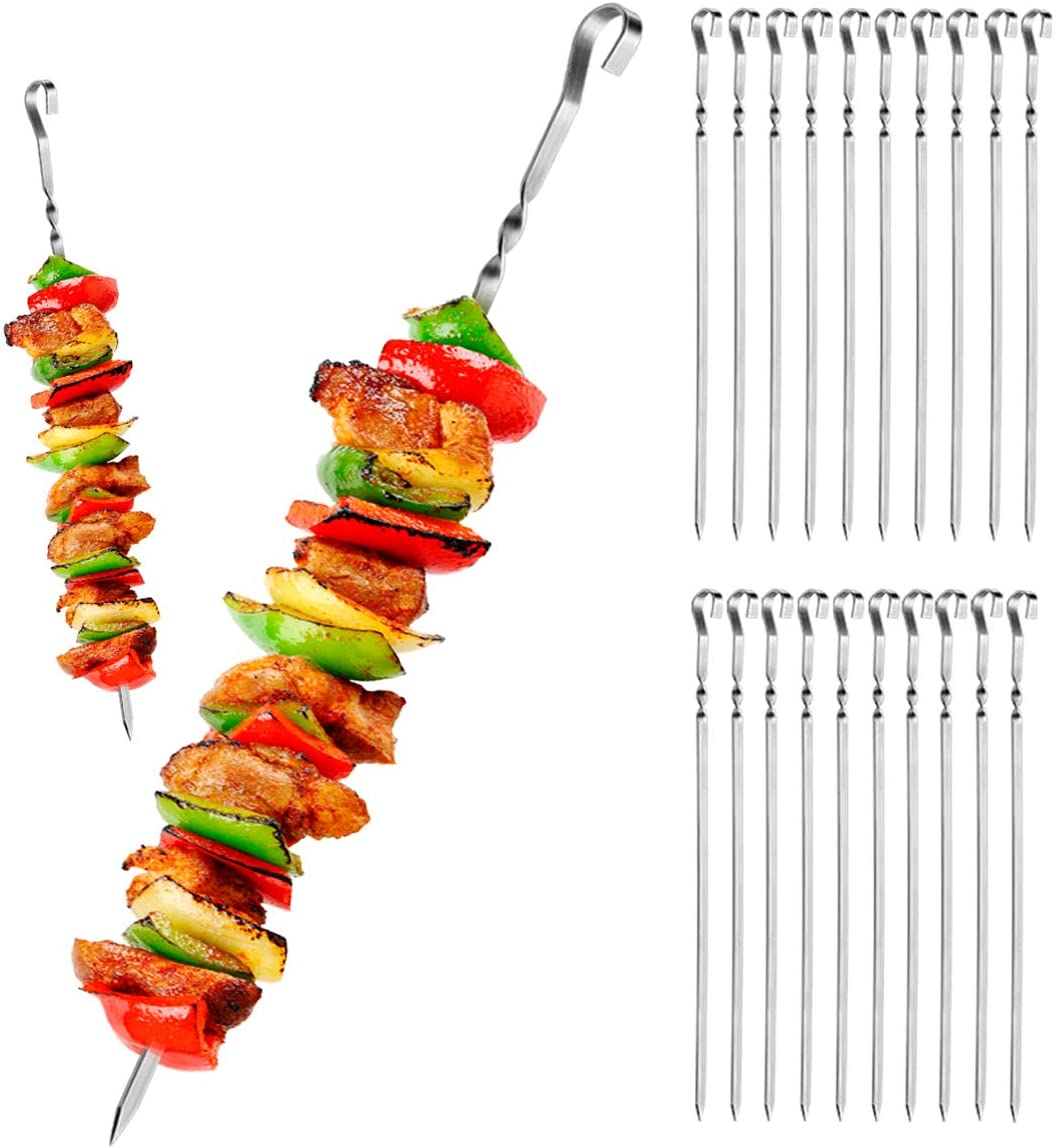 Homyhoo 20 Seattle Mall Pack Courier shipping free shipping Kabob Skewers for - Long Flat Metal 15