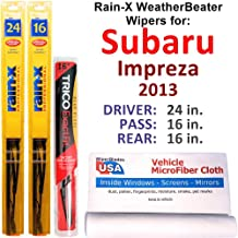 Sponsored Ad - Rain-X WeatherBeater Wipers for 2013 Subaru Impreza WRX Set w/Rear Rain-X WeatherBeater Conventional Blades...
