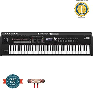 Roland RD-2000 88-Key Digital Stage Piano includes Free Wireless Earbuds - Stereo Bluetooth In-ear and 1 Year Everything Music Extended Warranty