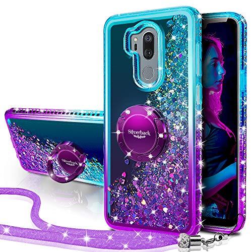Miss Arts Cover LG G7, Custodia LG G7 ThinQ,[Silverback] Custodia Glitter di in TPU con Supporto, Pendenza Colore Diamond Liquido Cover Case per Case for LG G7 ThinQ -Porpora