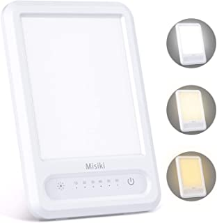 Misiki Lámpara Terapéutica 10000 Lux Sin UV Lámpara de luz Diurna Natural USB Portátil LED Lampara Luminoterapia 3 Niveles de Brillo y Temporizador de 60 min para el Trastorno Afectivo
