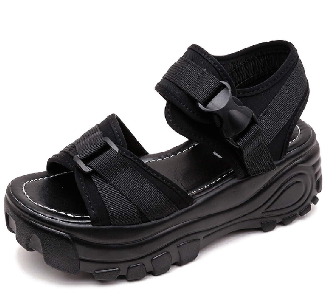 粘土植物の浸した[ココマリ] レディース 厚底 サンダル 軽量 歩きやすい コンフォート シューズ スポーツサンダル ストラップ 靴 スニーカー