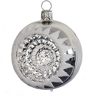 Thüringer verre eislack boules de Noël blanc boules de Noël 4 5 6 7 8 cm
