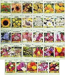 Set of 29 Black Duck Brand Flower Seed Packets 29 Varieties of Seeds!