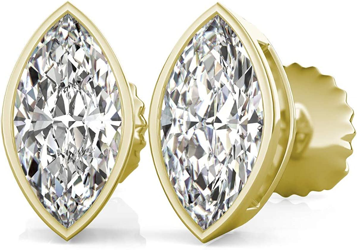 Bezel Set Marquise Cut Cubic Max 63% OFF Party Zirconia Fancy New product!! Wear Solitaire