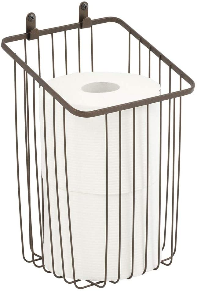 mDesign Metal Wire Wall Mounted Tissue Toilet Roll Paper Holder Max 67% OFF of fixed price 58% OFF