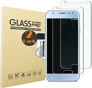 RUIST Protector Pantalla Samsung J2 Pro 2018,[2-Pack] 9H Dureza [2.5D Borde Redondo] Vidrio Templado [Alta Definición] Sin Burbujas Cristal Templado para Samsung Galaxy J2 Pro 2018