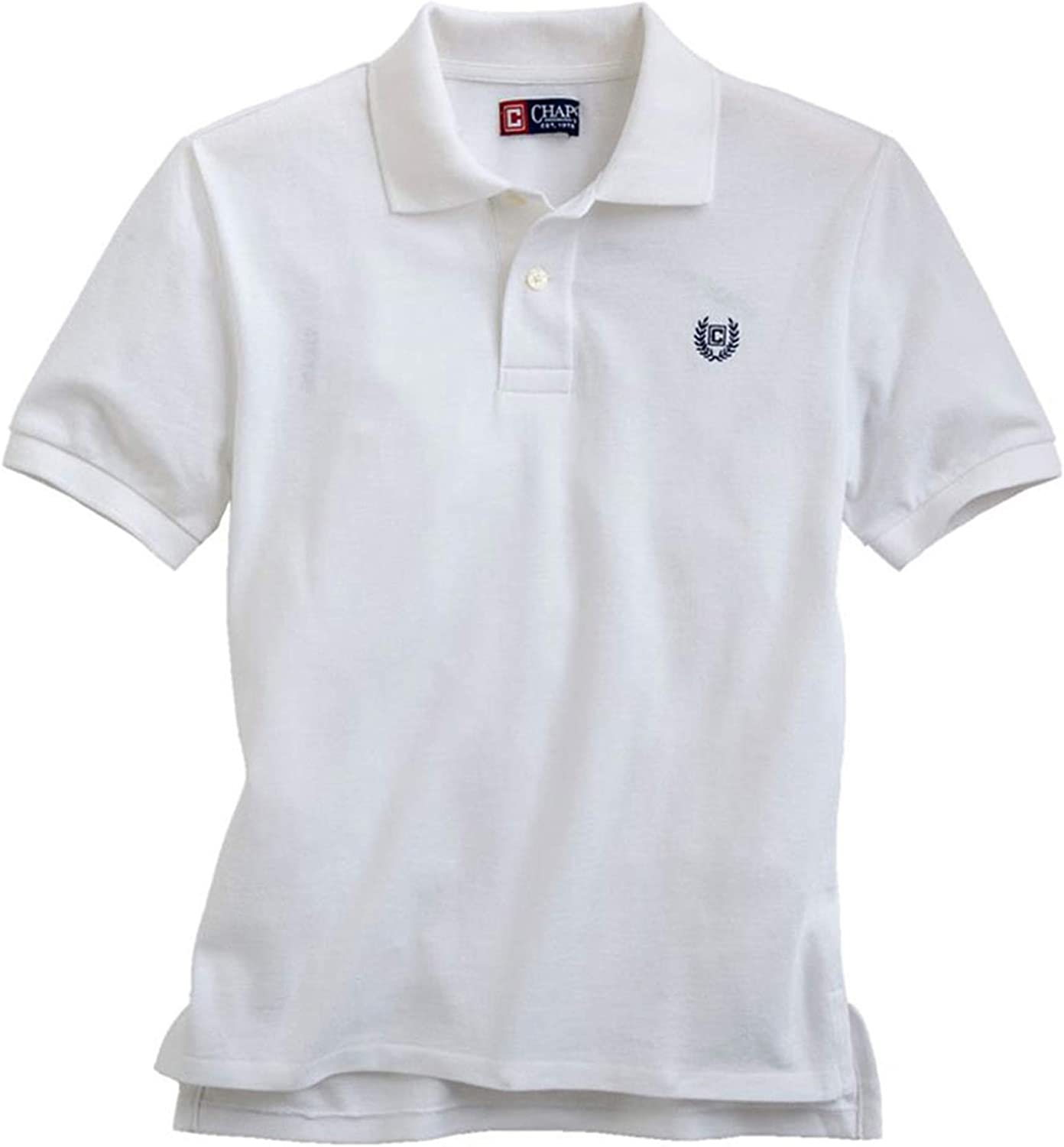 Chaps Boys Solid Logo Rugby Polo Shirt White S - Big Kids (8-20)