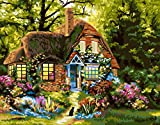 AOTAO DIY Painting By Number House Kits Home Decor Painting By Numbers Landscape Drawing On Canvas HandPainted Art Gift(40x50cm 16x20inch)