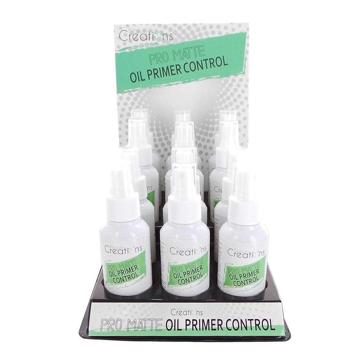 食器棚先見の明コントロールBEAUTY CREATIONS Pro Matte Oil Primer Control Spray Display Set, 12 Pieces (並行輸入品)