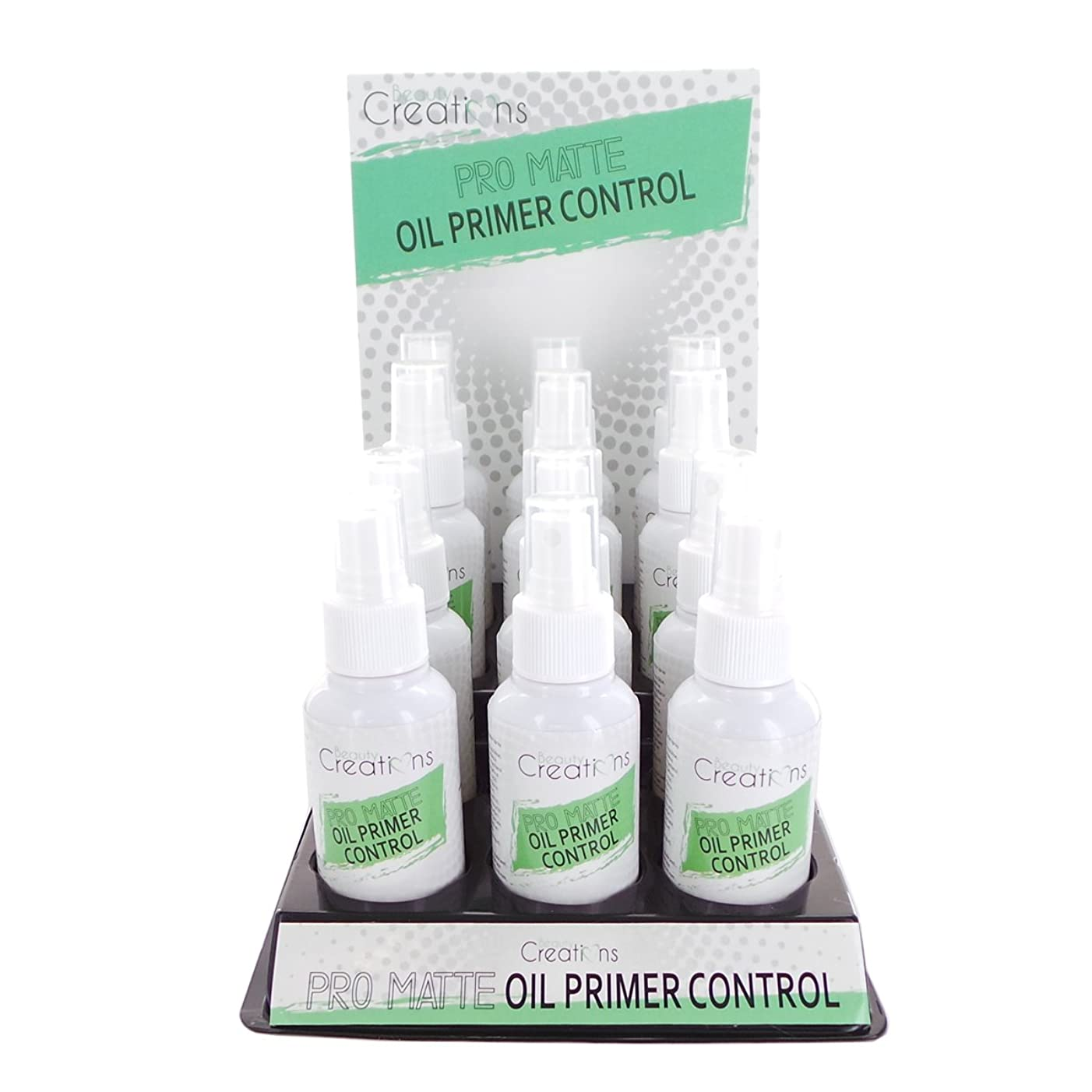 コカインいらいらさせる従順BEAUTY CREATIONS Pro Matte Oil Primer Control Spray Display Set, 12 Pieces (並行輸入品)