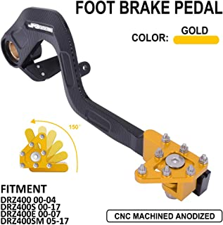 AnXin Motorcycle Rear Brake Pedal Foot Lever for Suzuki DRZ400 00-04,DRZ400S 00-17,DRZ400E 00-07,DRZ400SM 05-17(Gold)