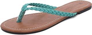 Charles Albert Women's Easy Braided Thong Flip Flop Sandal - Braided Sandals for Women
