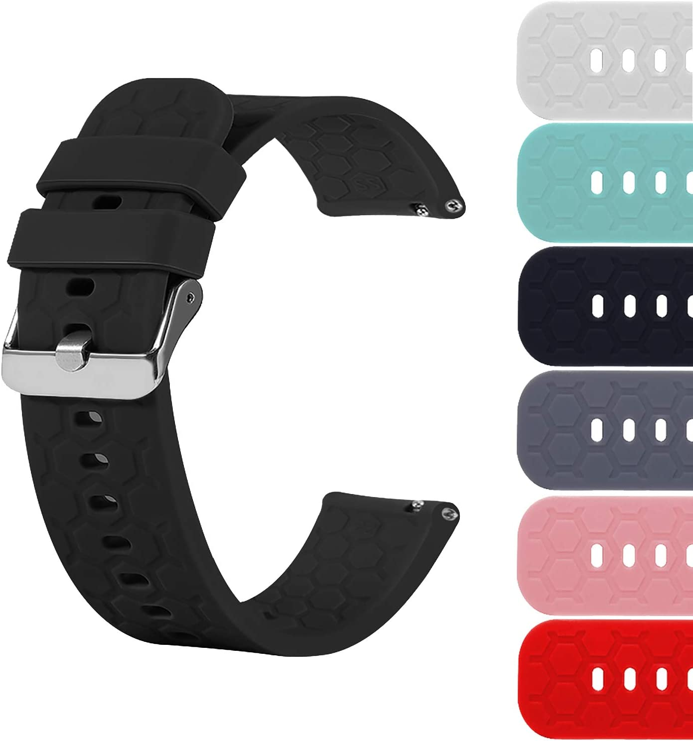 18mm San Francisco Mall 20mm New product!! 22mm Width Silicone Wristband Release Quick Replacemen