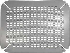 iDesign Tapis d'évier, Grand Tapis d'évier de Cuisine en PVC, Accessoires pour évier et évier avec Trous de Drainage, Gris