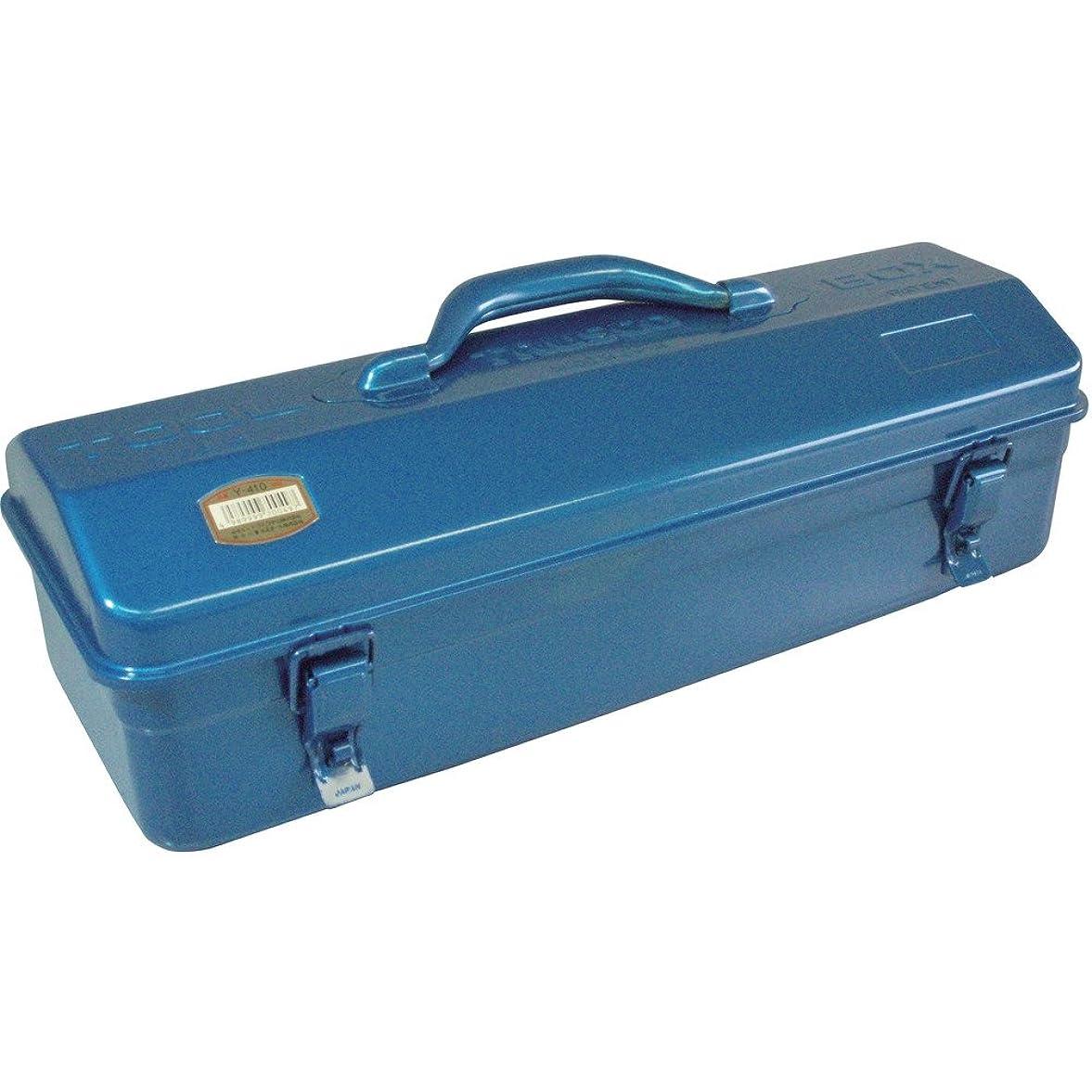 マンモスお茶残酷なTRUSCO(トラスコ) 山型工具箱 433X168X173.5 ブルー Y-410-B