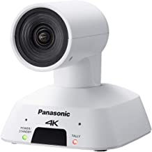 Panasonic AW-UE4WG Compact Ultra Wide Angle 4K Integrated PTZ Indoor Camera, 4X Optical Zoom, HDMI, USB, POE, 111 Degree A...